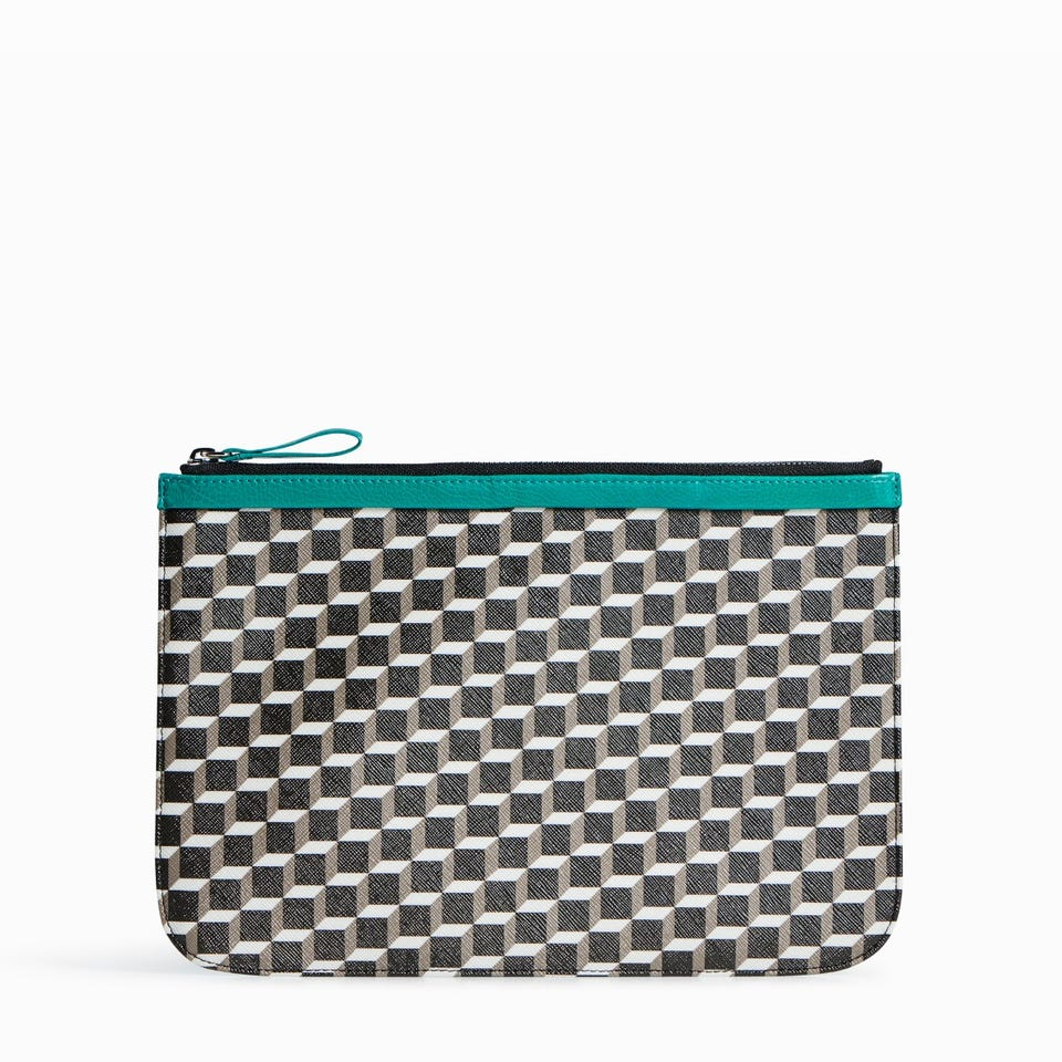 CUBE PERSPECTIVE POCHETTE LARGE