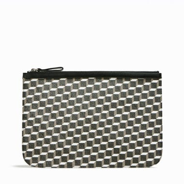 PERSPECTIVE CUBE LARGE POUCH