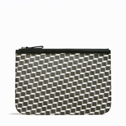 PERSPECTIVE CUBE POCHETTE LARGE