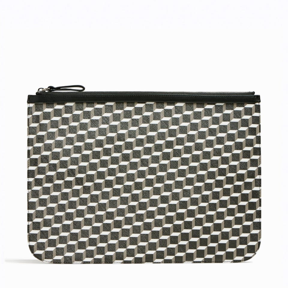 PERSPECTIVE CUBE EXTRA LARGE POUCH