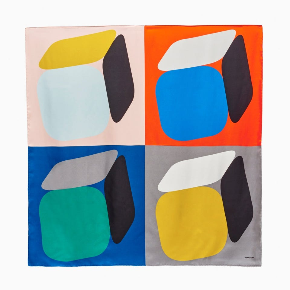 PERSPECTIVE CUBE FOULARD