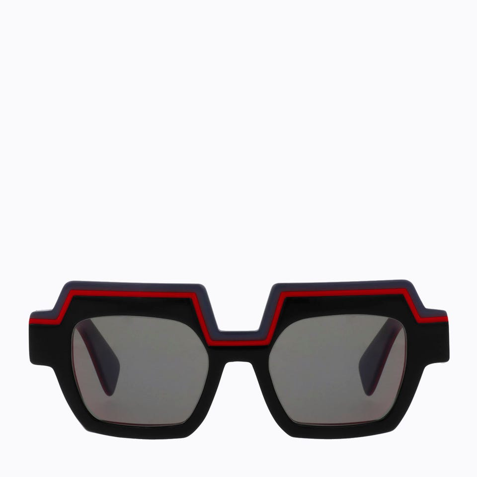 VIBE SUNGLASSES IN BLACK RED NAVY