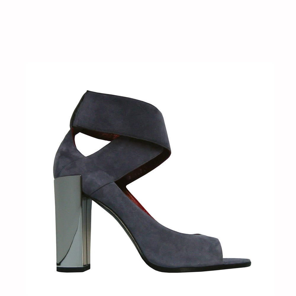 sandal grey suede leather pierre hardy