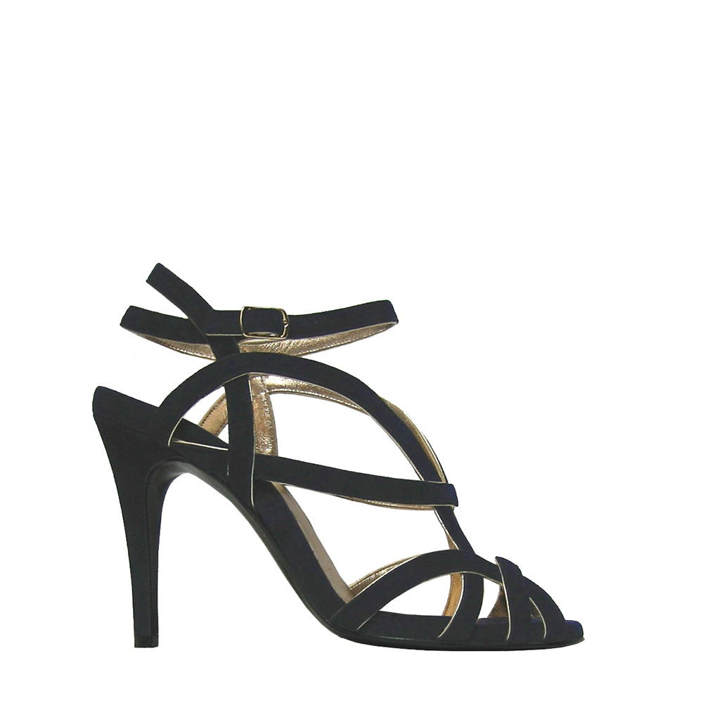 sandal suede leather and gold pierre hardy