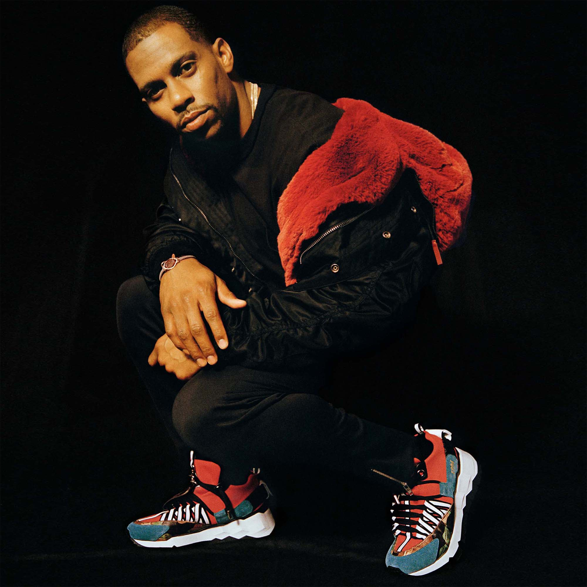 Victor Cruz with the V.C.I 1996 Sneakers