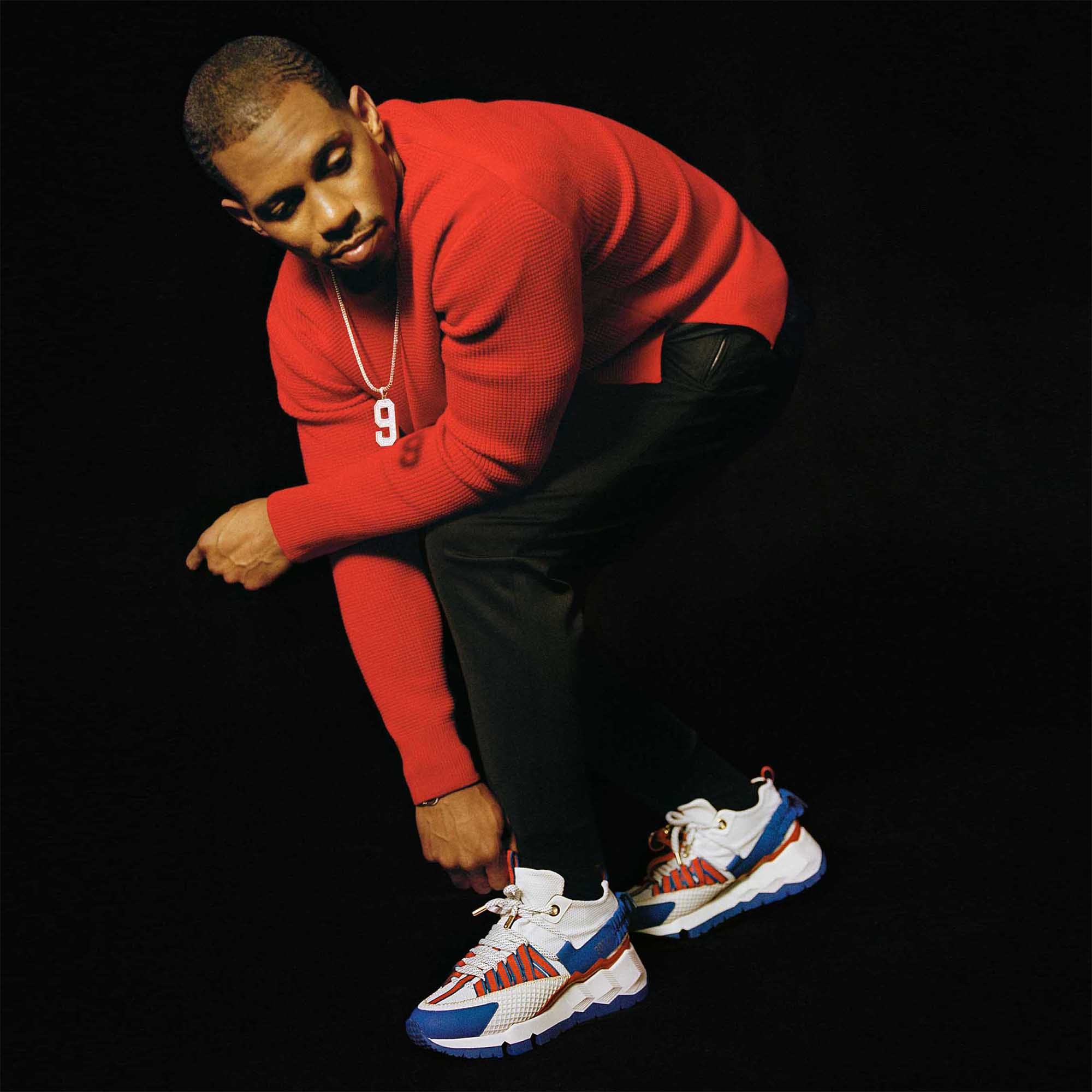 Victor Cruz with the V.C.I 2012 Sneakers